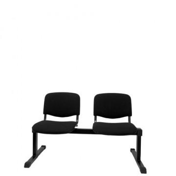 Bancada 2 asientos tapizados negro
