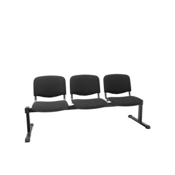 Bancada 3 asientos tapizados negro