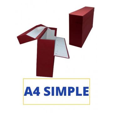 CAIXA TRANSFER A4 (SIMPLE) 360x255x110 VERMELL