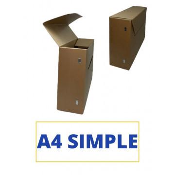 CAIXA TRANSFER A4 (SIMPLE) 360x265x110 CARTRO RECICLAT OLLAO