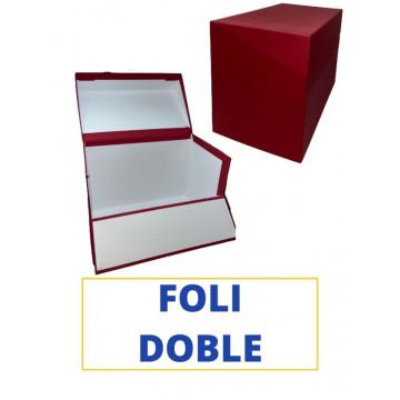 CAIXA TRANSFER FOLI (DOBLE) 390x260x210 VERMELL