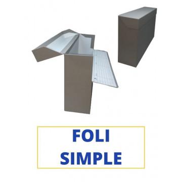 CAIXA TRANSFER FOLI (SIMPLE) 390x255x110 GRIS