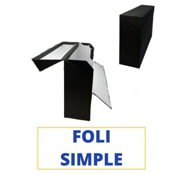 CAIXA TRANSFER FOLI (SIMPLE) 390x255x110 NEGRE