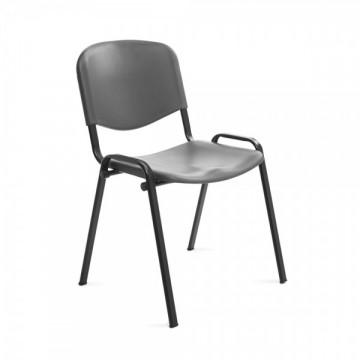 Silla confidente respaldo plástico gris / asiento plástico gris