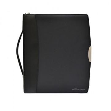 Portafolio A4 con Asa y Anillas Dynamic Serie Black Line Office