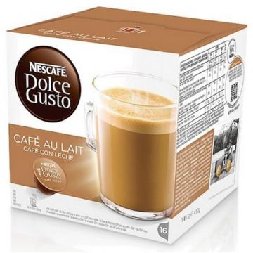 Cápsulas café con leche 16 un. Nescafé Dolce Gusto.