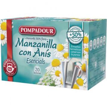 Manzanilla con anís caja 20 bolsitas 1,25 gr. Pomp