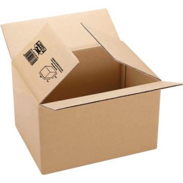 Caja embalaje kraft marrón 217x172x110mm. canal 3m