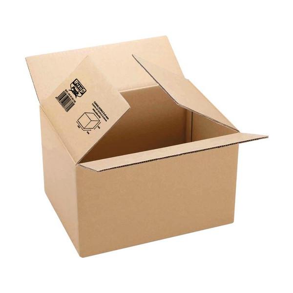 Caja embalaje kraft marrón 440x325x420mm. canal se