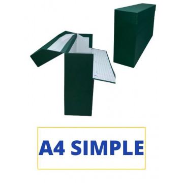 CAIXA TRANSFER A4 (SIMPLE) 350x255x110 VERD