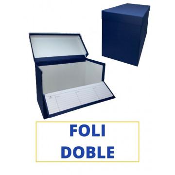 CAIXA TRANSFER FOLI (DOBLE) 390x260x210 BLAU