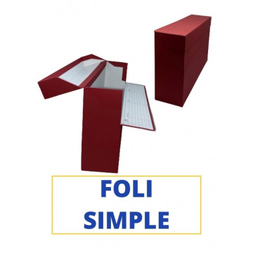CAIXA TRANSFER FOLI (SIMPLE) 390x255x110 VERMELL