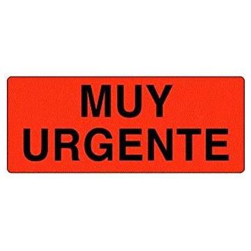 ETIQUETES MUY URGENTE (094x33) (1000u)