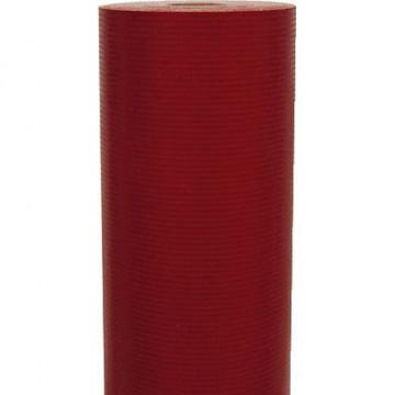 Papel kraft verjurado 250x0,7m UNICOLOR  rojo