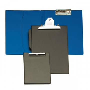 Carpeta Folio Clip Troquelado+Bolsa Azul