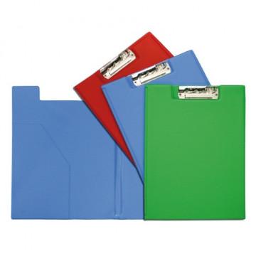 Carpeta folio Clip Troquelado+Bolsa Azul Claro