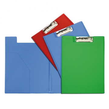 Carpeta folio Clip Troquelado+Bolsa Verde Claro