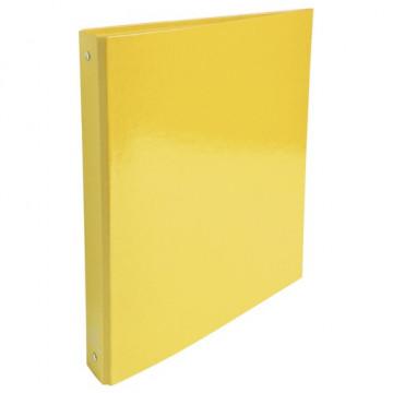 Carpeta anillas A4 4 anillas 30mm cartón forrado Iderama amarill