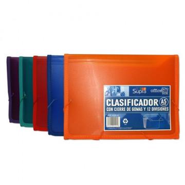 Clasificador A5 12 divisiones Supra Office box
