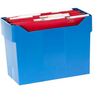 Cajetín de archivo suspendido ARCHIBOX 170x365x260 azul Incluye 5 carpetas