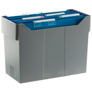 Cajetín de archivo suspendido ARCHIBOX 170x365x260 gris Incluye 5 carpetas