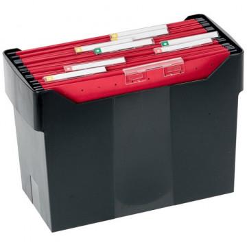 Cajetín de archivo suspendido ARCHIBOX 170x365x260 negro Incluye 5 carpetas