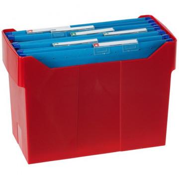Cajetín de archivo suspendido ARCHIBOX 170x365x260 rojo Incluye 5 carpetas