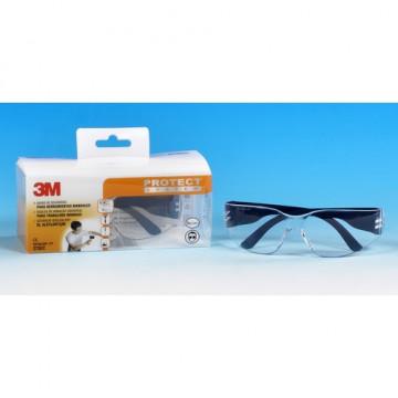 Gafas incoloras, protección UV,resistencia al raya