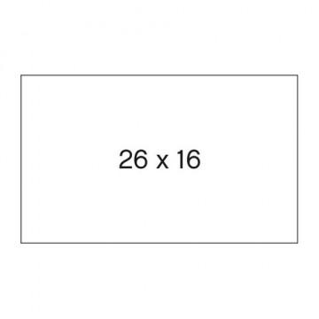 ETIQUETES ETIQ. STD 26x16mm BLANC (6u.) METO