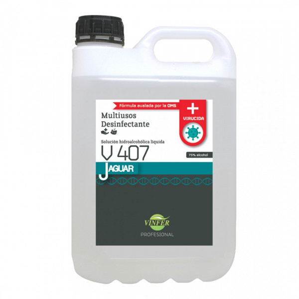 Virucida hidroalcoh¢lico 5L JAGUAR V407