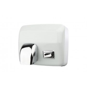 Secamanos tobera manual inoxidable blanco 2200w