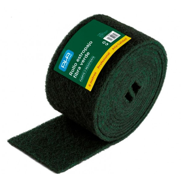 Estropajo fibra verde en rollo 6m