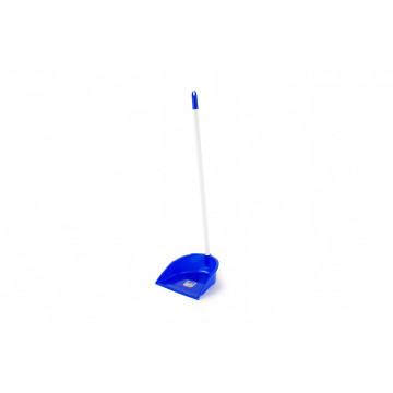 Recogedor con palo azul
