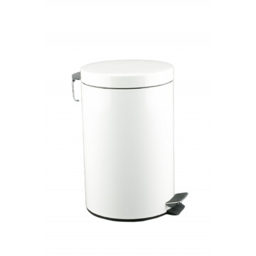 Cubo pedal 20l inoxidable blanco