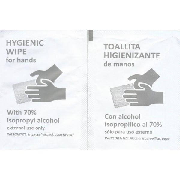Toallitas higienizantes hidroalcoh¢licas caja 500