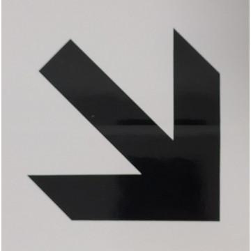 ETIQUETA ICONO 11x11 FLECHA DIAGONAL          (ABO