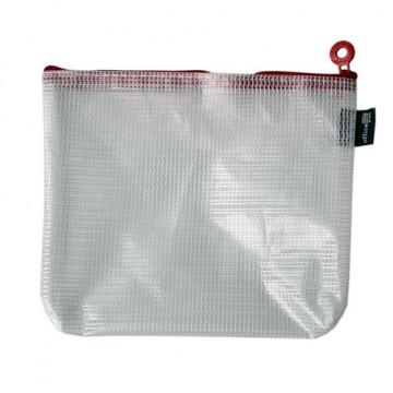 Bolsa Multiusos con cremallera B6- 215 X 165 mm roja Office Box