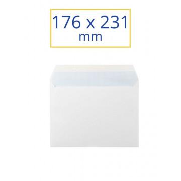SOBRE BLANC 176x231 4º JUST (100u)                         (ABO)