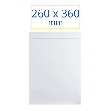 SOBRE BLANC 260x360 FOLI (100u)