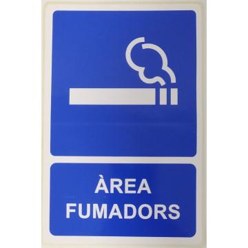 ETIQUETA ICONO 12x18 AREA FUMADORS (2u)       (ABO