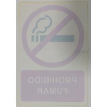 ETIQUETA ICONO 12x18 VIDRE PROHIBIDO FUMAR (2u)
