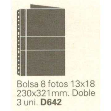 FUNDA MULTIFIN-2 FOTO 13x18 DOBLE 8F. (3u)                 (ABO)