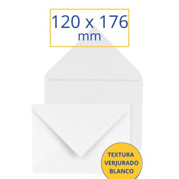 SOBRE VERJURADO BLANC 120x176 NORMAL (25u)               (ABO)