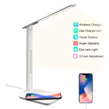 LAMPARA LED SOBRETAULA CARREGA MOVIL BLANCA ECO USB