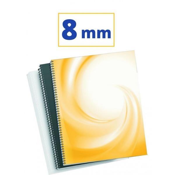 CANUTO ESPIRAL METALIC (5:1 08 mm 45 FULLS) NEGRE