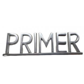 """PLACA PISOS FUNDICIO 60mm ALUMINI PLATA """"PRIMER"""""""