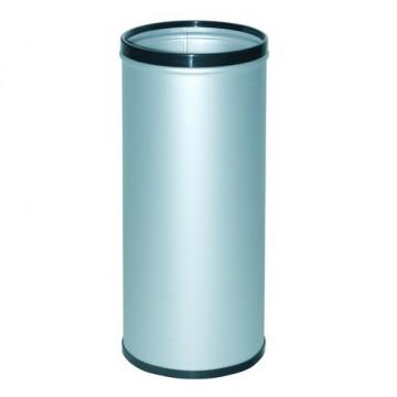Paragüero metálico con aros superior e inferior en pvc gris