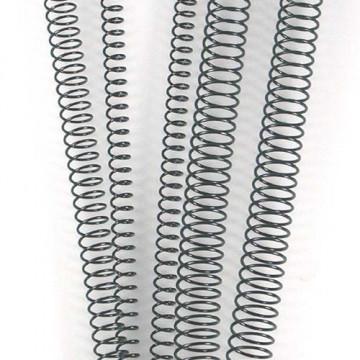 CANUTO ESPIRAL METALIC (4:1 16 mm 125 FULLS) NEGRE         (ABO)
