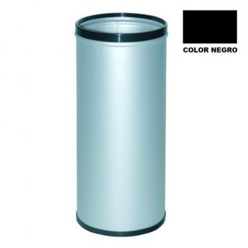 Paragüero metálico con aros superior e inferior en pvc negro