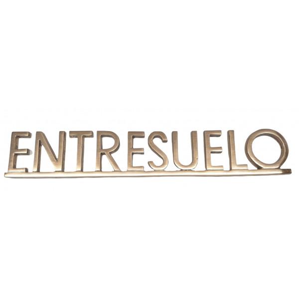 """PLACA PISOS FUNDICIO  60mm BRONZE """"ENTRESUELO"""""""
